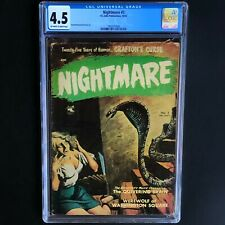 NIGHTMARE #3 (St. John 1952) 💥 CGC 4.5 OW-W 💥 CLASSIC PRE-CODE PAINTED COVER!