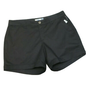 """NWT Old Navy Stretch Cotton 5"""" Shorts Size 8 Solid Black"""