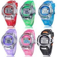 Child Boy Girl Fashion Watch Multifunction Electronic Sport Digital Wrist Watch