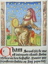 INKUNABEL HOLZSCHNITT MER DES HISTOIRES 1488 ASTROLOGE ASTROLOGER WOODCUT