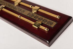 Mahogany effect 2 player  Snooker scoreboard  Brass scorers  wall hooks ex show