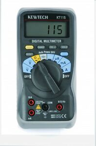 Kewtech KT115 Digital Multimeter - Contractor Friendly electrician - free post!