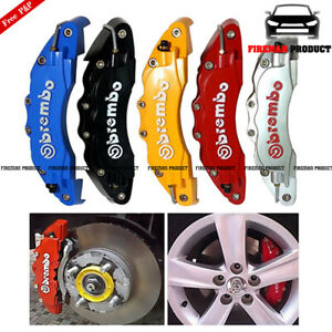 4x 3D Fashion Style Race Brake Caliper Cover Disc Red Car Front & Rear BMW