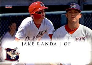 2019 Auburn Doubledays Choice 22 Jake Randa Prairie Village Kansas Baseball Card