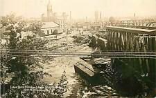 Wisconsin, WI, Wausau, Scene South fr High Bridge after Flood July 1912 RPPC