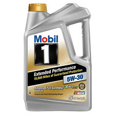 New Mobil 1 (120766) Full Synthetic Extended Performance 5W 30 Motor Oil 5 Quart