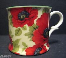 1 Poppy C/B  Small English Fine Bone China Mug Cup By Milton China