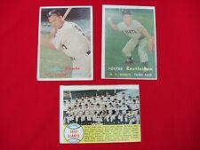 1957 TOPPS BASEBALL CARDS GROUP OF 3 *L@@K*