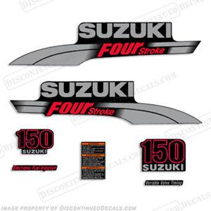 Suzuki 150hp FourStroke Outboard Engine Decal Kit DF150 marine boat motor decals