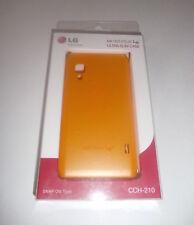 Lg Optimus l5 2 l5 II ultra slim Case naranja cch-210 cover hard-shell funda nuevo