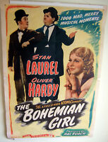 "Genuine Original 1936 ""Bohemian Girl"" Poster~Laurel &Hardy;Thelma Todd~w/Hanger!"
