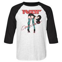 RATT Dancing Undercover Girl Album Cover Mens Raglan Shirt Rock Band Concert Top