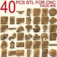 40 pcs set #5 3d stl models  for CNC Router Artcam Aspire