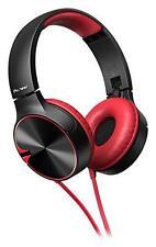 Pioneer SE-MJ722T BASS HEAD Closed Dynamic Folding Headphones Red from Japan