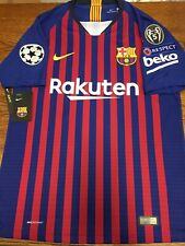 2f6e5a247c4 Nike FC Barcelona Home Jersey Authentic Messi 10 Champions League Size M