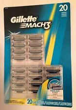 20 Gillette Mach 3 Razor Blade Cartridges , Authentic NEW