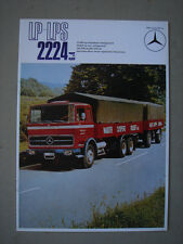 MERCEDES-BENZ  Model LP-LPS 2224 6x4  truck/LKW  brochure / Prospekt  1970.