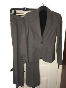 Theory Womens Wool 2pc Suit Size 0