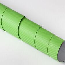 3x DIN A4 Wrapping Folie 3D Carbon Grün 21cm x 29,7cm Autofolie m Luftkanälen