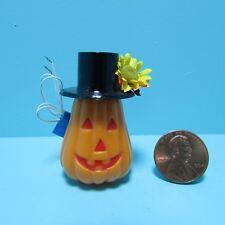 Dollhouse Miniature Halloween Pumpkin Jack-O-Lantern Electric 12v ~ Sh517O