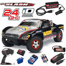 Traxxas 1/16 Slash 4X4 Short Course Truck #10 RTR W/ TQ / Power Supply Adapter