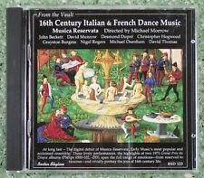 FROM THE VAULT 16TH CENTURY ITALIAN FRENCH DANCE MUSIC