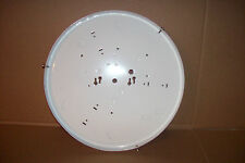 """White Canopy Ceiling Lighting Mounting Plate 12 3/4"""" Dia. Round C14 Flat"""