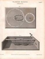 1808 Datato Stampa Astronomia Planetary Macchine Cometarim ~ Georgiano