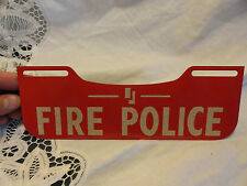 vintage FIRE DEPARTMENT LICENSE PLATE TOPPER bottom