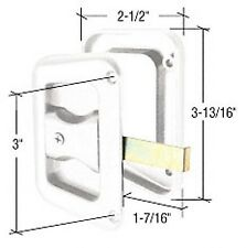 """Sliding Screen Door Latch and Pull w/ 3"""" Screw Holes for Hat Section Doors"""
