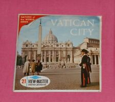vintage VATICAN CITY VIEW-MASTER REELS packet with booklet and stamp