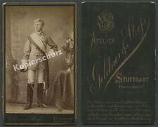 ORIG. CDV-foto Geldner & stoehs cuerpo-Student Degen charge mensur de stuttgart 1890