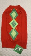 Petco Time for Joy Preppy Christmas Sweater for Dog Size Lg