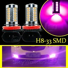 2pcs Purple Pink H8 H11 33SMD 5730Chip LED Lens Bulbs For Car Driving Fog Lights