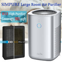 3 in 1 Large Room Air Purifier H13 HEPA Home Air Cleaner for Allergies & Pets
