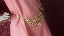 Traditional Kamar Bandh Bridal Jewelry Chain Hip Waist Belt Gold Tone Indian