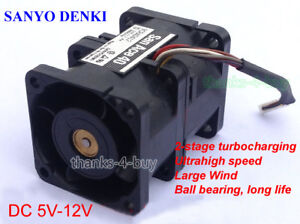 DC 5V-12V USB PWM Turbo Supercharger Water Cooling Fan for Computor CPU 15800RPM