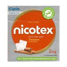 Cipla Nicotex Nicotine Gum Cinnamon Flavour 2mg 9 Sugar Free Gums Pack Of 13