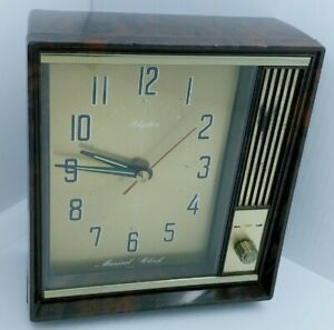 Vintage RHYTHM Musical Table Clock 1960s Made in Japan