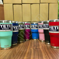 Yeti Rambler Stainless Steel Cup Insulated 30oz Tumbler with Lid Multi-colors UP