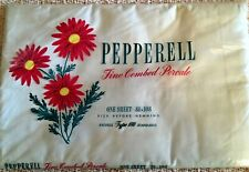 Nos Vintage Pepperell Fine Combed Cotton Percale Full Double Sheet White