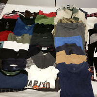 Mens Medium Clothes Huge Lot 48 Piece Mixed Clothing Shirts Sweaters Tees Shorts