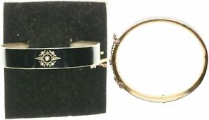Bangle, Black, Silver Plated, 16,9g, Diameter Approx. 6cm (49668)