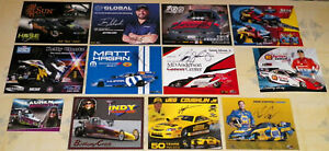 """""""12"""" DIFFERENT """"AUTOGRAPHED"""" DRAG RACING HANDOUTS-P/S-T/F-F/C-PSB-JR. DRAGSTER!!"""