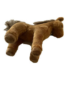 """Lot Of 2 Aurora Brown Horse Stuffed Animal 8"""" Soft Special Gift New (A543)"""