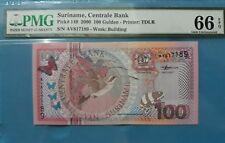 2000 Suriname 100 Gulden PMG66 EPQ GEM UNC <P-149>