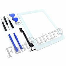 Replacement Digitizer Touch Screen Glass for iPad 4 4th Generation Tools Adhesive White