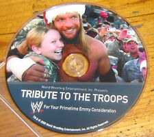 TRIBUTE TO THE TROOPS DVD '08, WWE WWF, RAW, TRIPLE H, CAMP SPEICHER TIKRIT IRA