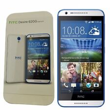 New HTC Desire 620G Dual-SIM 8GB White/Blue Trim Factory Unlocked 3G Simfree