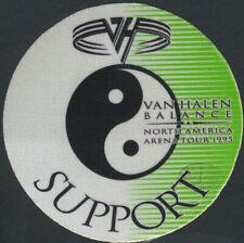 VAN HALEN 1995 BALANCE TOUR BACKSTAGE PASS Support grn